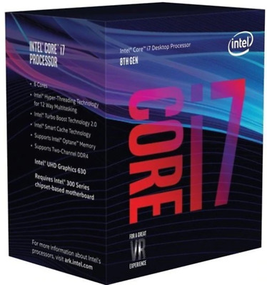 INTEL i7-8700K CPU (12M Cache, up to 4.70 GHz) 6Cores/12Threads (BX80684I78700K)