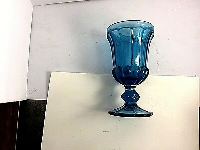 Teal Blue Ice Cream Molded Glass