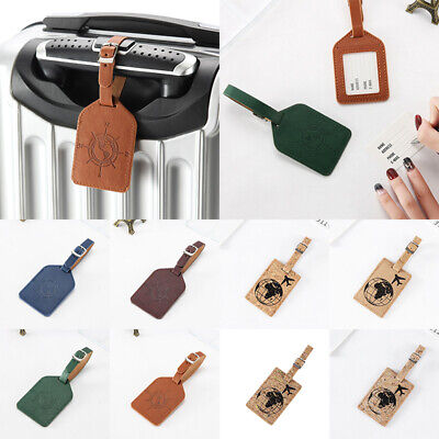 1PC Square Luggage Travel Suitcase Bag Id Tags Address Label Baggage Card Holder