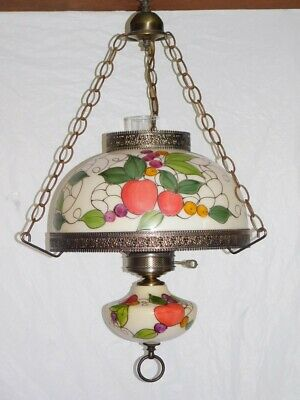 old vintage antique chandelier ceiling fixture lamp light tiffany hanging GWTW