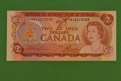 1974 Bank of Canada $2 Two Dollar. Replacement Bill. Lawson Bouey. Ungraded.