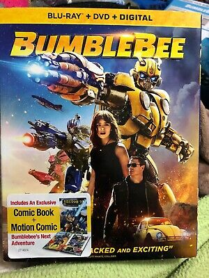 Transformers Bumblebee (Blu-ray + DVD + Digital; 2018) NEW with Slipcover