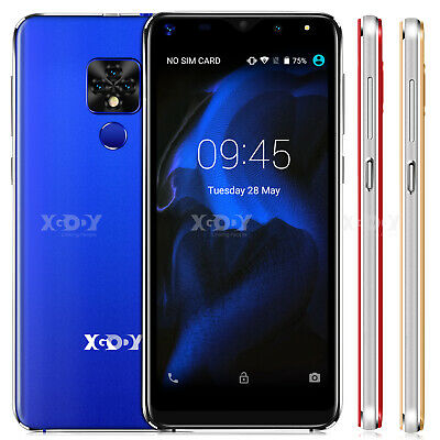 "XGODY Android 8.1 Unlocked Cell Phone 6.0"" Smartphone Dual SIM Quad Core Phablet"