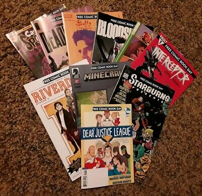 FCBD 2019 Free Comic Book Day Lot of 10 DC Buffy Interceptor Riverdale Bloodshot