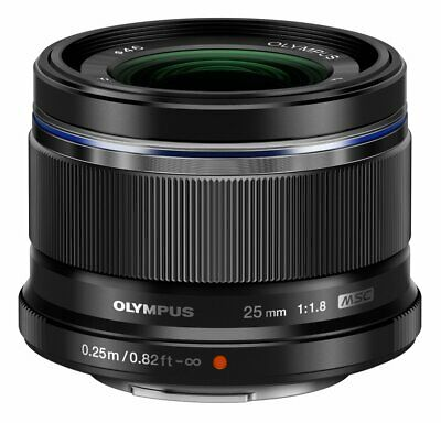 Olympus M.Zuiko Digital Black 25mm f/1.8 Lens Micro Four Thirds Mount for Camera