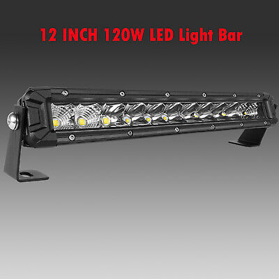 "Ultra-thin 312W 10inch Led Light Bar Flood Spot Combo Offroad SUV 12""22""32""42""52"