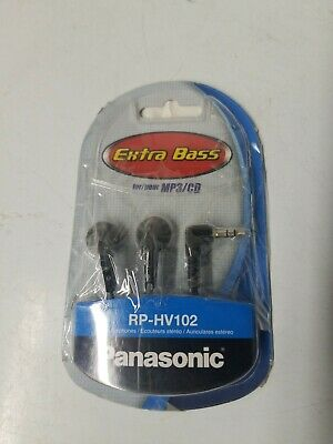 Panasonic RP-HV102 3.5mm Connector Earbud Stereo Insidephones with Ergonomic Des