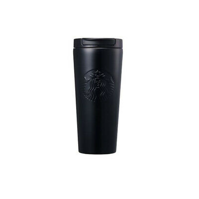 Starbucks SS Etched  Black Stainless Steel Cup Korea Tumbler 16oz(473ml)