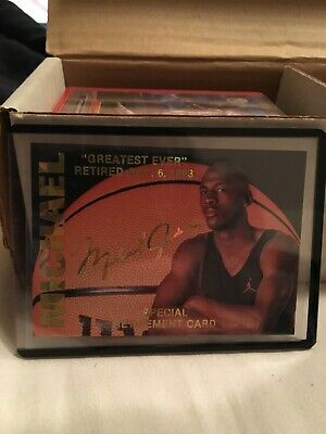 1993 94 Arena Sports Michael Jordan Retirement Card Chicago Bulls Hof