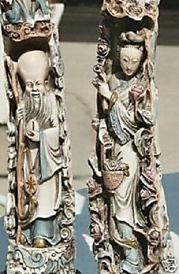 ESTATE Rare Vintage Marble Royal Emporer  & Emporess Pair Retired or Best Offer!
