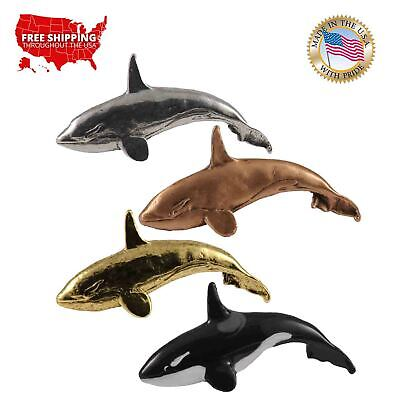 Creative Pewter Designs Orca, Killer Whale Female Lapel Pin or Magnet, M073