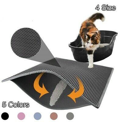 Hot Double-Layer Cat Litter Mat Waterproof Pad Pet Rug Eva Foam Trapper Base NEW
