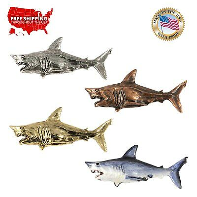 Creative Pewter Designs Shortfin Mako Shark Premium Lapel Pin or Magnet, S114PR