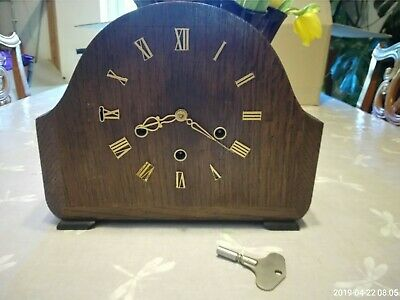 Antique  smiths Westminster chime mantle clock fully working
