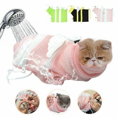 Bathing Bag Grooming Product Cat Mesh Grooming Cat Biting Restraint No Scratch
