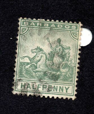 Barbados Timbres  1892 - 1903 Badge Of Colony Sc N° 71 - 74