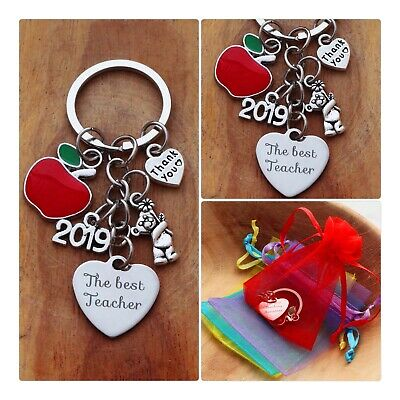 THANK YOU TEACHER GIFT Keyring -TEACHING ASSISTANT,NURSERY TEACHER-Apple keyring