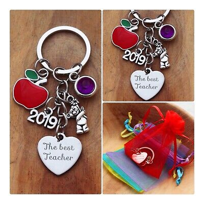 THANK YOU TEACHER GIFT Keyring -TEACHING ASSISTANT,NURSERY TEACHER- 2019