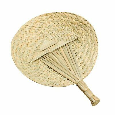 2X(Environmental Protection Cattail Leaf Fan Craft Hand Fan Hand Knit Deco R4V2)