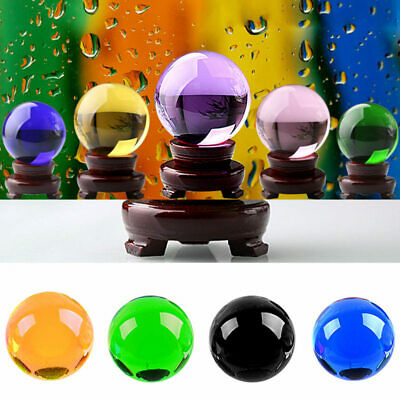 40mm Large Clear Glass Crystal Ball Healing Sphere Photography Props Ball IPZ