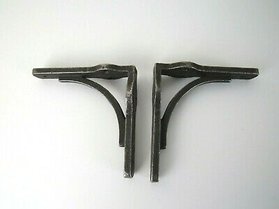 2 x Rustic industrial Antique vintage look Cast Iron shelf wall Bracket Support