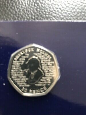 2019 Sherlock Holmes BU 50p pence Brilliant Uncirculated UK Royal Mint Coin