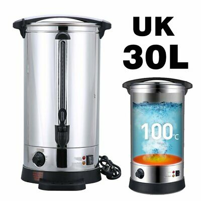 Stainless Steel 30L Electric Catering Hot Water Boiler Tea Urn Coffee Heater MT