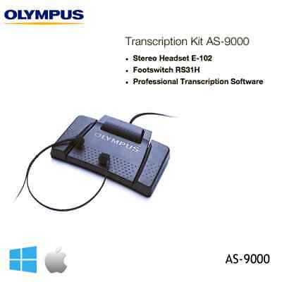Olympus AS-9000 Pro Digital Transcription Kit - BRAND NEW