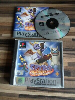 Spyro Year Of The Dragon - Sony Playstation Ps1 Game Complete With Manual