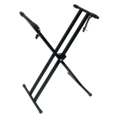 Glarry 61 Keyboard Electric Piano Double X-Stand Iron Dual Tube Standard Rack