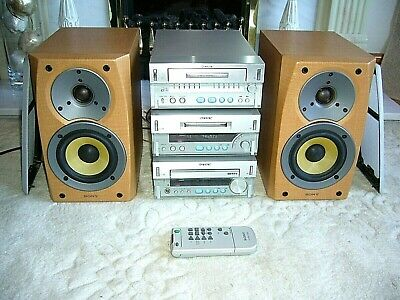 Quality Sony Mini Hi-Fi System with Mini-Disc/CD-Receiver/Tape & Speakers