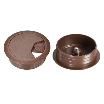 "Cable Hole Cover, 2"" Plastic Desk Grommet for Wire Organizer, 10 Pcs (Brown)"
