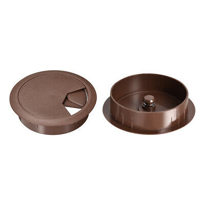 """Cable Hole Cover, 3-3/20"""" Plastic Desk Grommet for Wire Organizer 20Pcs (Brown)"""