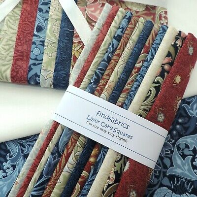 """10"""" Layer Cake Squares 100% Cotton Fabric for Quilt Craft ~ Pack Content Vary"""