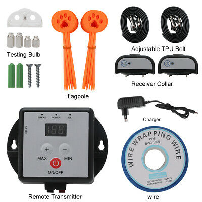 Electric Fence Dog Collar Underground Rechargeable Pet Training Containment Kit