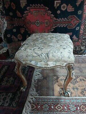 Large antique  Victorian Franglais giltwood Salon stool
