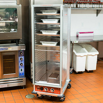 Full Size Electric Non-Insulated Heated Holding / Proofing Cabinet w/ Clear Door