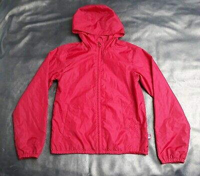 New United Colours of Benetton Red Foldaway /Hooded Rain Jacket-Girls 11-12yrs.