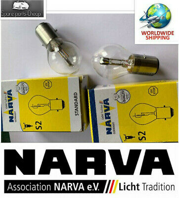 2 x Narva Light Bulbs Lamp S2 35w/35w 12v Ba20d for Motorcycle Scooter