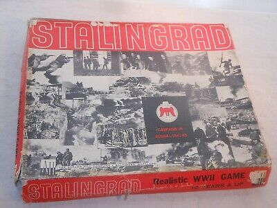 "Vintage  Brettspiel "" Stalingrad "" Realistic Wwii Game - Avalon Hill Usa"