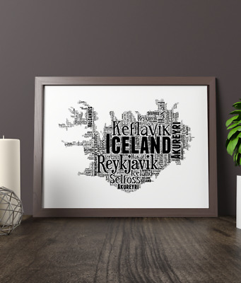 Personalised Hungary Word Art Map Add Your Own Words Hungarian Word Art Gift