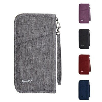 Travel Wallet Bag Women Men Passport Handbag Family Waterproof Credit Card Pouch