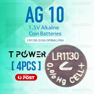4x Naccon AG10 1.5V Cell Coin Alkaline Button Battery Batteries Stock in Mel