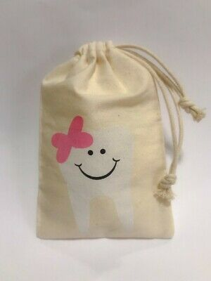 Tooth Fairy Bag Pouch for Girls - Keepsake Gift for Baby Kids & Children