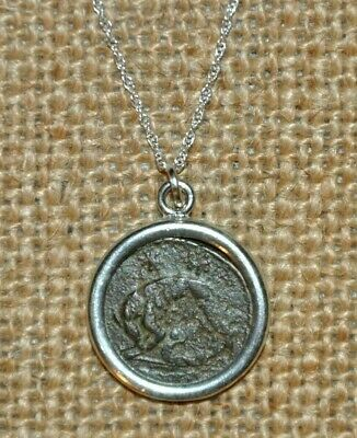 Ancient Coin of Constantine the Great She Wolf URBS Roma 925 Silver Necklace