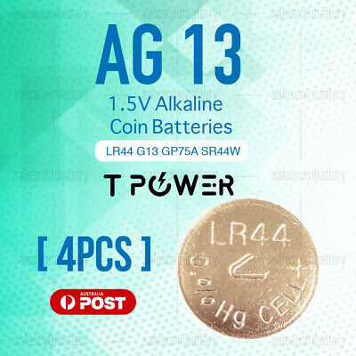 4x Naccon AG13 1.5V LR44 G13 GP76A Cell Coin Alkaline Button Battery Batteries