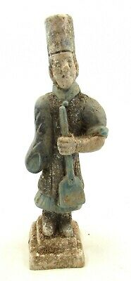 Authentic Ancient Chinese Ming Dynasty Terracotta Gardner W/ Spade - L734