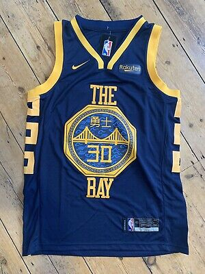 f71ac7de8 2019 NBA Steph Curry City Edition  30 Golden State Warriors Basketball  Jersey M