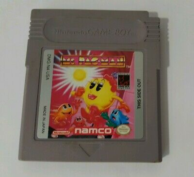 Ms. Pac-Man (Nintendo Game Boy, 1993) AUTHENTIC CARTRIDGE, CANADA