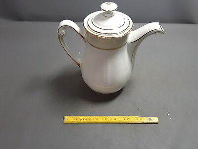 Antigua Tetera Media Porcelana Blanco Deco 1950 French Antiguo